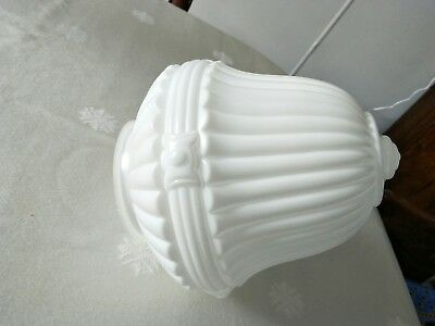 Vintage Ornate White Milk Glass Lamp Shade