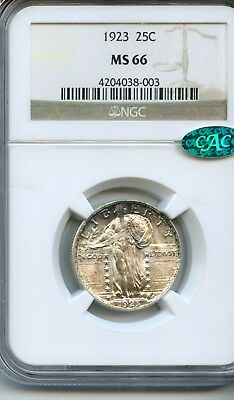 1923-P 25C Standing Liberty Quarter (NGC/CAC MS66) GREAT LUSTER