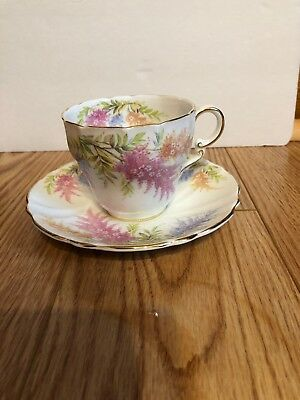 Stanley Fine Bone China England Floral With Gold Trim Tea Cup and Saucer