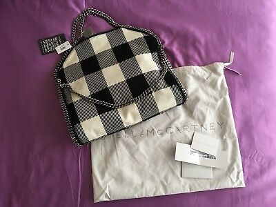 New Authentic Stella McCartney Bag Small Falabella Gingham Tote RRP 795 baaf821ee7
