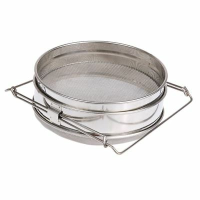 2X(Stainless Steel Honey Filters Strainer Network Stainless Steel Screen Mesh 2*
