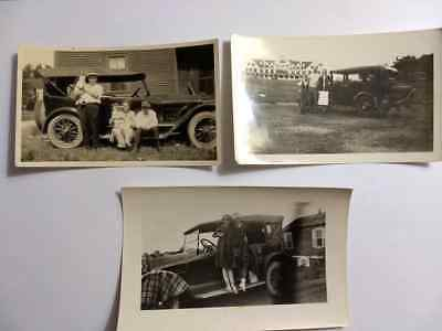 Antique Cars & People ~Old Photographs~ Lot of 3