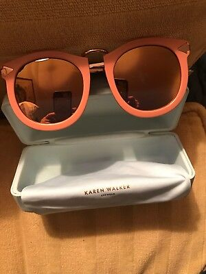d08f5cbd112b KAREN WALKER SUPER Lunar Rose Pink Sunglasses W/ Shiny Gold NWT ...