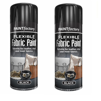 200ML Black Fabric Spray Paint Leather Vinyl & Much More, Flexible