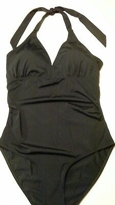 Mothercare Ladies Blooming Marvellous Black Maternity Swimsuit  Size 14