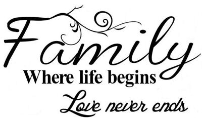 family were life begins vinyl wall art quotes sticker graphic decal room decor