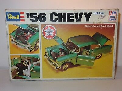Revell 1956 Chevy Bel Air 2Dr Ht 1/25 Scale Plastic Unbuilt Kit In Orig Box