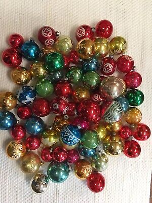 Vintage Christmas Ornaments Mixed Lot 68 pc. Crafts Decoration USED Shiny Brite