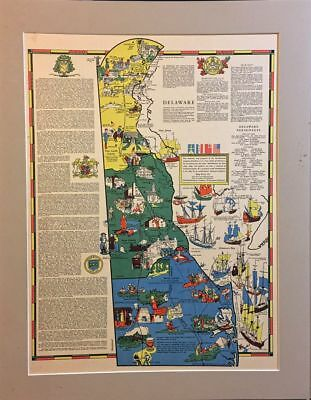 Delaware state map Mentholatum collection by R T Aitchison