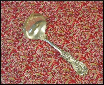 """REED & BARTON Francis 1 Sterling Silver Gravy Ladle (6-5/8"""") NICE!"""