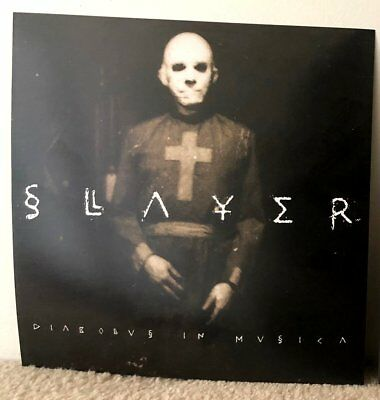 *SLAYER-Diabolus in Musica LP Cover Flat 12x12 / Promotional 2-Sided /Metal/1998