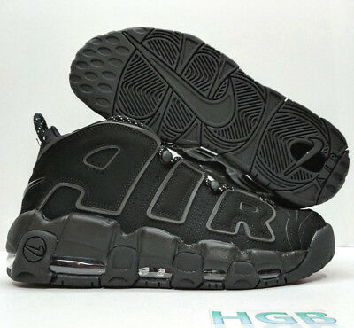 new style a9390 c65a5 Nike Air More Uptempo 2017 Triple Black Reflective Max Incognito 414962-004  NIB