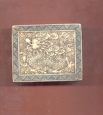 Dragon Hand Carved Etched Trinket Box 605