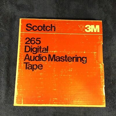 "Scotch 265 1/2"" Digital Audio Mastering Tape 12.5""Reel 7200' NEW Sealed"