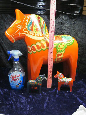 "ENORMOUS 20"" Tall Wood DALA HORSE Nils Olsson VINTAGE Swedish Traditional Sweden"