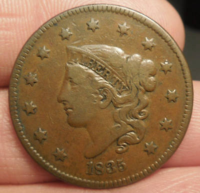 1835 Matron Head Large Cent - Nice Color & Detail - Very Nice Coin!
