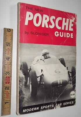 Vintage 1961 The New Porsche Guide by Sloniger Modern Sports Car Series