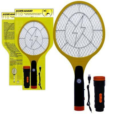 Koramzi Electric Mosquito Swatter/Bug Zapper With Rechargable Battery, Handle li