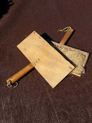 Wool carders original antique primitive tool early 1900's