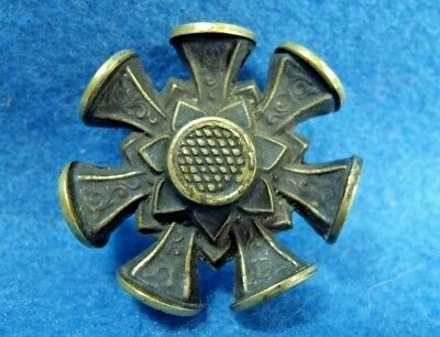 Antique 19th Century Brass 8 Sided Multi Wheel Wax Seal Stamp