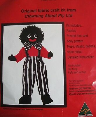 Clowning About JOLLY CLOWN DOLL Kit Sewing pattern preprinted face body fabric