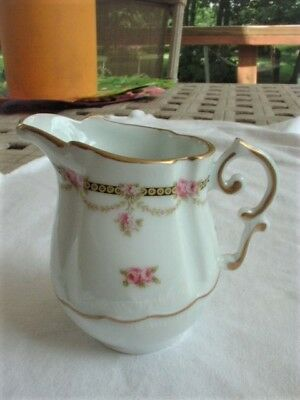 Small Creamer Atelier du Tabalou Limoges France with Gold Trim