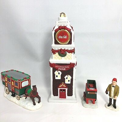 Coca-Cola Town Square Collection Town Clock ~ The Lunch Wagon ~ Street Vendor