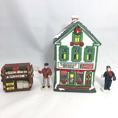 Coca-Cola Town Square Collection ~ General Store ~ Newsman ~ Newsstand ~ Mailman
