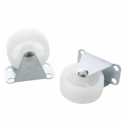 "1X( 2 Pcs Fixed Metal Top Plate 1.5"" Diameter Rigid Caster Wheel K3R9)"