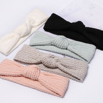 Girls Hair Band Wash Face Bath Spa Makeup Wrap Headband Soft Elastic Cute