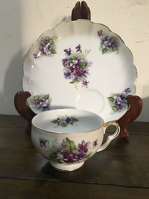 Vintage Fine China Kelvin Tea Cup And Dessert/breakfast Saucer