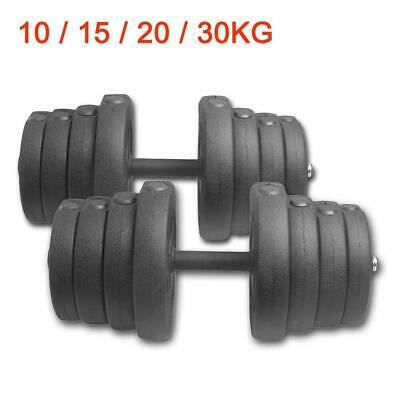 10-30kg Adjustable Dumbbell Set Biceps Fitness Exercise Home Gym Weight Training