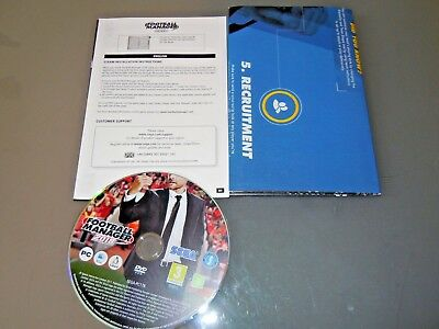 Football Manager 2018 LTD Ed PC cover  double side poster & DISC - NO code