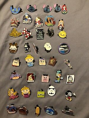Authentic Disney Trading Pins 50 Lot No Doubles Hidden Mickey Limited