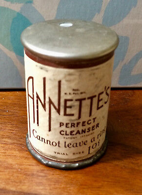 Vintage Advertising Tin Annette's Perfect Cleanser Trial Size