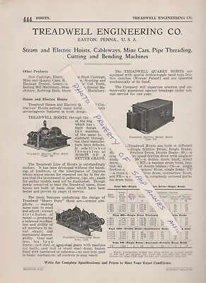 1922 paper ad TREADWELL ENGINEERING COMPANY Easton PA Mine cars Hoists equipment