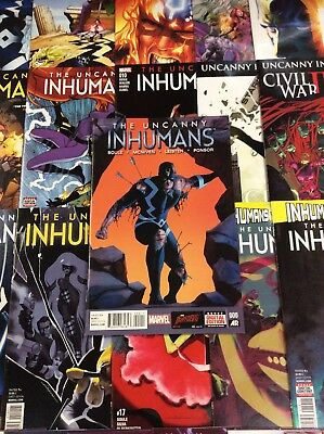 INHUMANS #1-20 UNCANNY 1-11 ALL NEW Comic Book LOT 2 FULL SERIES 1ST APP MOSAIC