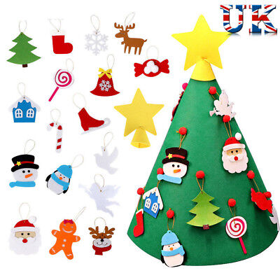 3D Cone Craft Felt Christmas Tree for Toddlers Children Xmas DIY Gifts UK SOCK