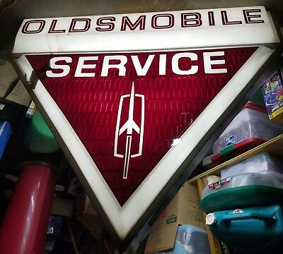 Classic Oldsmobile Service Sign -- Backlit and fully functional! (5ftx4ft)