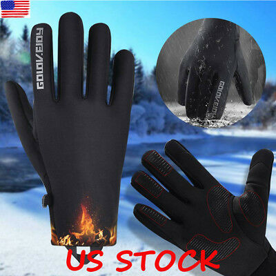 Men Women Winter Warm Windproof Waterproof Anti-slip Thermal Touch Screen Gloves