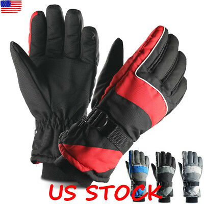 -40℃ Waterproof Warm Thermal Ski Winter Snow Skiing Snowboard Gloves Thinsulate