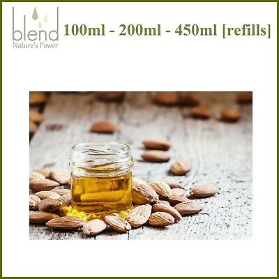 Almond Sweet Oil [refills] Pure Natural Cold Pressed Hexane Free