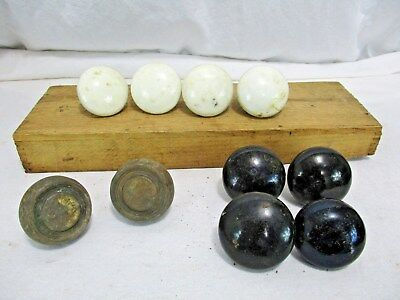 Lot OF Antique Vintage Old Door Knobs Architectural Salvage BRASS PORCELAIN