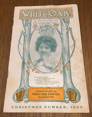 Antique  Advertising Periodical WHITE OAK COAL CO Christmas Number 1909