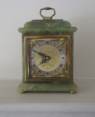 Elliot of London Mantel/Bracket Clock Mappin & Webb Ltd. Green Onyx