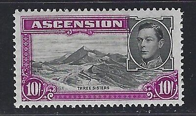 1944 Ascension Scott #49 (SG #47a) - 5sh KGV Three Sisters Stamp - MH