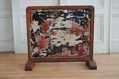 Antique Vintage Japanese Wooden Tsuitate Table Screen -Fireplace Oriental Decor