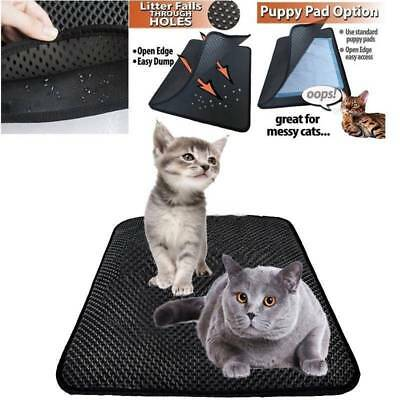 Waterproof Double-Layer Cat Litter Mat Trapper Foldable Rug Home Comfort Pad Pet