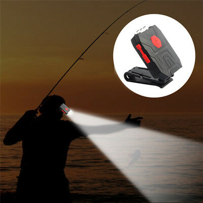Mini LED Clip On Hat Light Cap Lamp Flashlight Outdoor Fishing Camping Headlamp