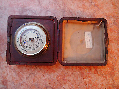 !!! Antigue pocket Barometer original leather cased GERMANY meter meereshöhe